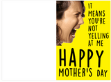 Please Stop Yelling At Me Happy Mother's Day Card (Plays Anchorman Sound)