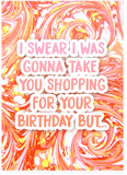 French Montana Drake No Shopping Birthday Card (PLAYS ACTUAL SONG)