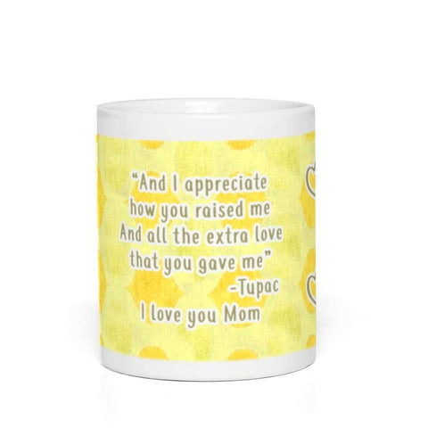 Tupac 2PAC Dear Mama Coffee and Tea Mug