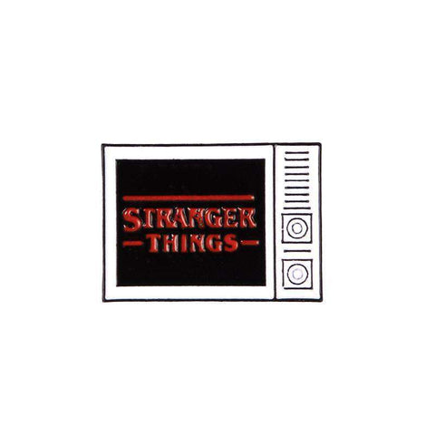 Free Stranger Things Retro Television Logo Enamel Pin Just Pay Shipping
