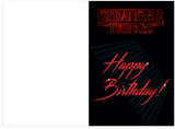 Stranger Things Birthday Card (PLAYS THEME SONG)