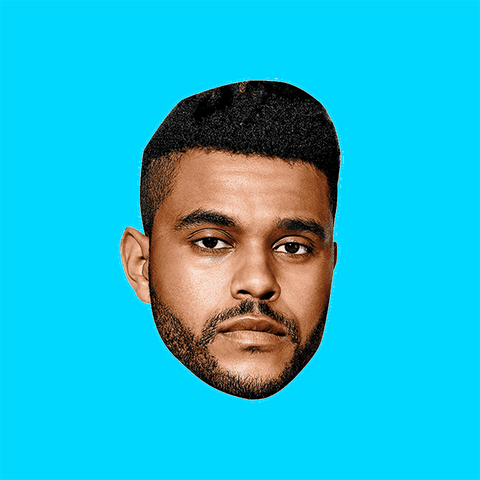 Serious The Weeknd Mask by RapMasks