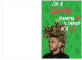 The Weeknd I'm A Starboy Holiday Christmas Card (PLAYS ACTUAL SONG)