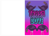 Love Trash Dove Meme Greeting Card (PLAYS SOUND)