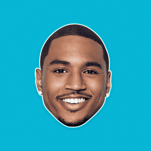Happy Trey Songz Mask - Perfect for Halloween, Costume Party Mask, Masquerades, Parties, Festivals, Concerts - Jumbo Size Waterproof Laminated Mask
