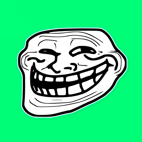 Trollface Rage Comic Meme Mask by RapMasks