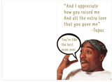 Tupac Dear Mama Mother's Day Card (Plays Actual Song)