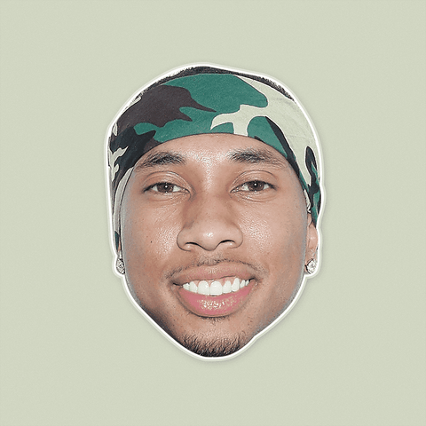 Happy Tyga Mask - Perfect for Halloween, Costume Party Mask, Masquerades, Parties, Festivals, Concerts - Jumbo Size Waterproof Laminated Mask
