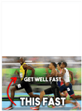 Usain Bolt Olympic Smile Fastest Man Alive Get Well Fast Card (PLAYS SOUND)