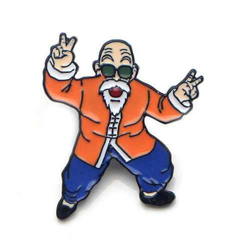 Free Master Roshi Dragon Ball Z DBZ Anime Enamel Pin Just Pay Shipping