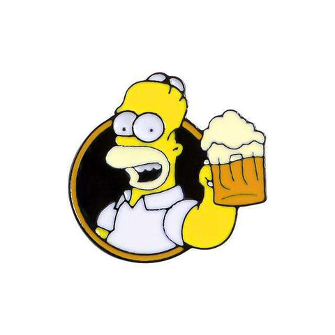 Free Homer Simpson Holding a Glass of Beer The Simpsons Enamel Pin Just Pay Shipping