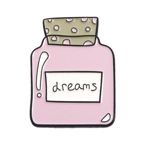 Free Dream Bottle Pink Enamel Pin Just Pay Shipping