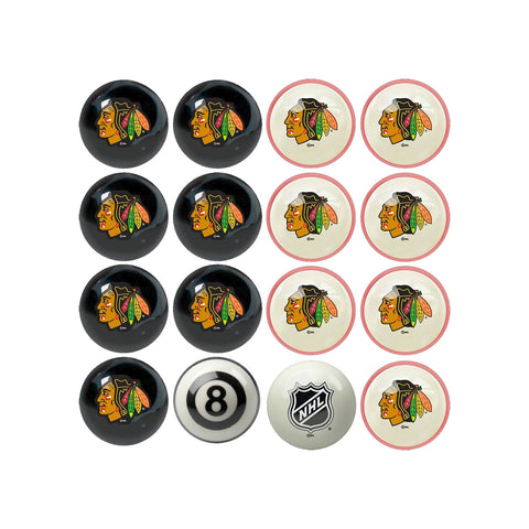 Imperial Chicago Blackhawks Home vs. Away Billiard Ball Set