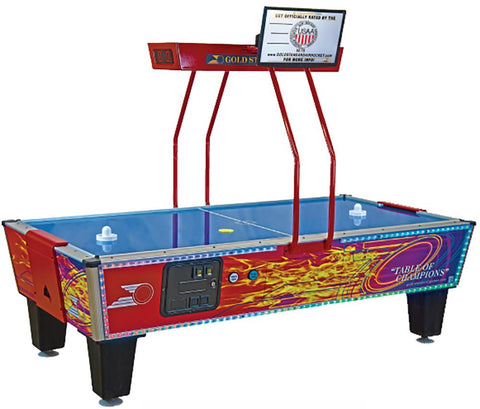 Gold Standard Games 8' GOLD FLARE PREMIUM Air Hockey Table (Coin Op)