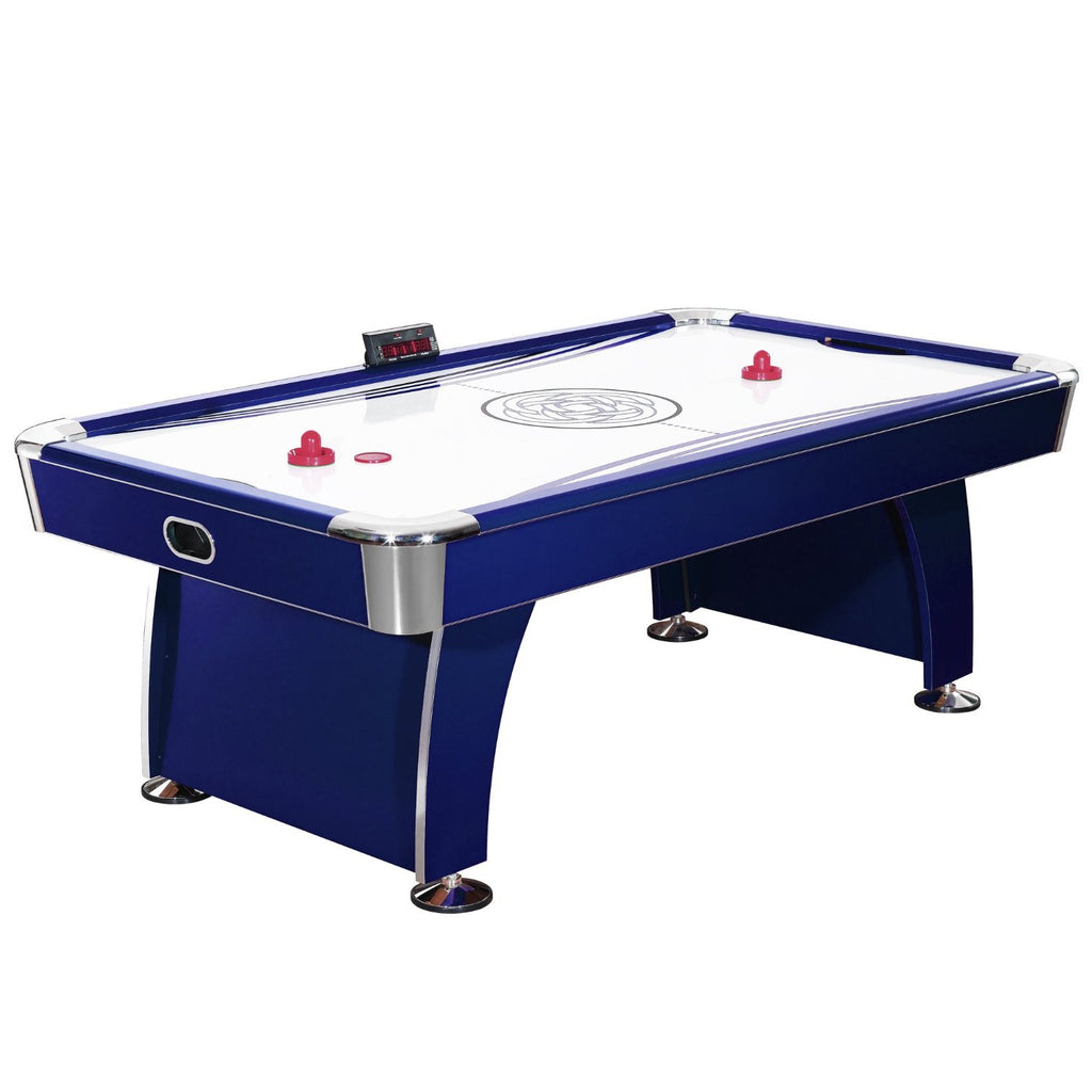 Picture of Hathaway 7.5' Phantom Air Hockey Table in Dark Blue/Silver
