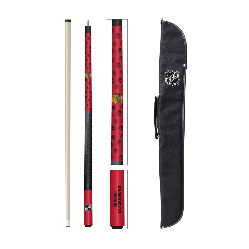 Imperial Chicago Blackhawks® Cue and Case Set