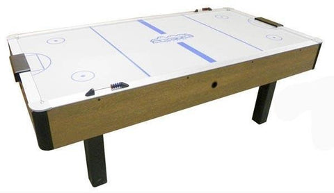 Dynamo 7' Arctic Wind Branded Oak Air Hockey Table
