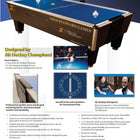 Gold Standard Games 8' Tournament Pro Air Hockey Table Brochure and Flyer