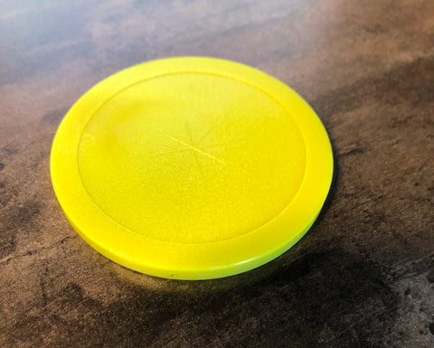 "Great American 3 1/4"" Hockey Puck in Yellow"