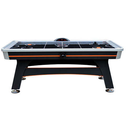 Hathaway Trailblazer 7' Air Hockey Table in Black/Orange