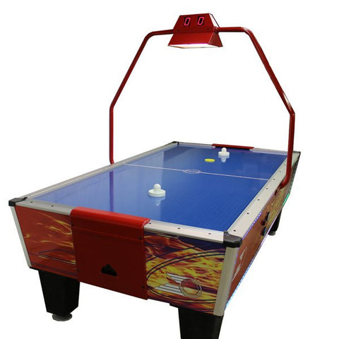 Gold Standard Games 8' Gold Flare Home Plus Air Hockey Table with Compact Scoring Unit