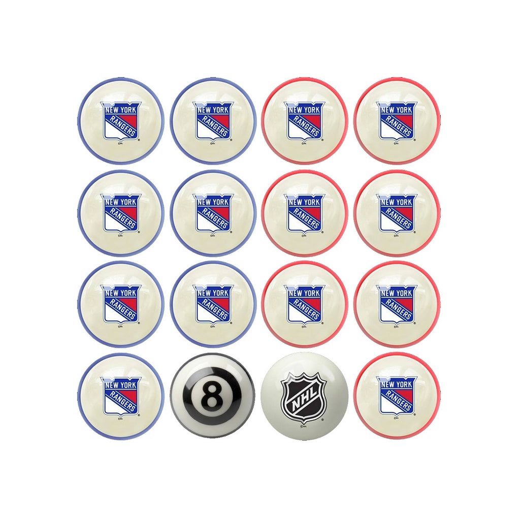 Imperial New York Rangers Home vs. Away Billiard Ball Set