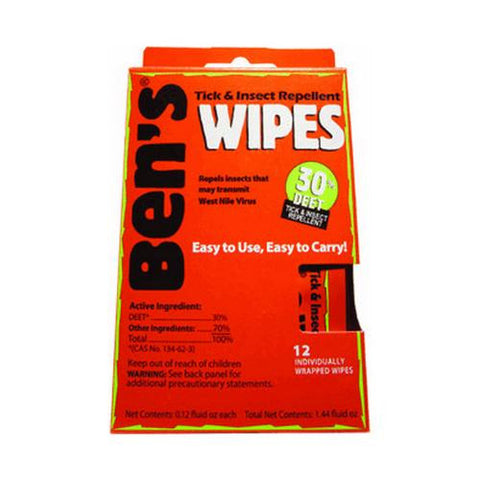 Bens - 30% Wipes (1- 12 Piece Box) - TentsEtc.com