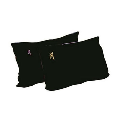 Fleece Pillow - Black w-Pink Buckmark - TentsEtc.com