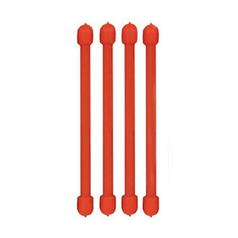Nite Ize 3in Gear Ties, Bright Orange (Pack of 4)