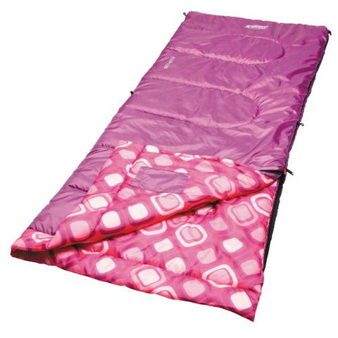 Coleman Youth Rectangular Sleeping Bag - Girls
