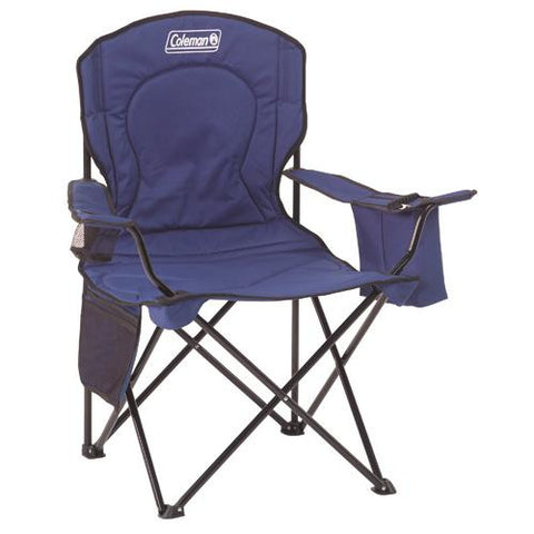 Adult Quad Chair with Cooler, Blue - TentsEtc.com