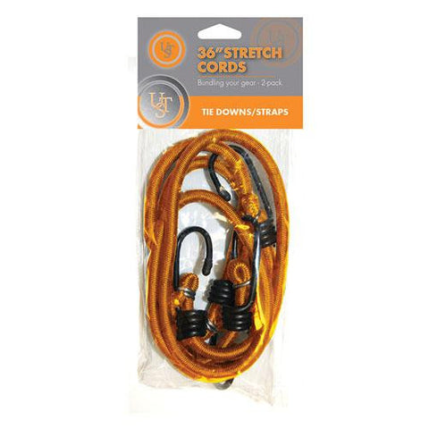 Ultimate Survival Technologies 36in Stretch Cord, Orange (Pack of 2)