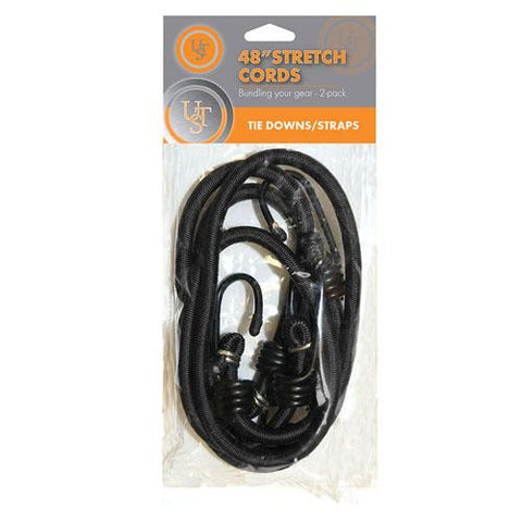 Ultimate Survival Technologies 48in Stretch Cord, Black (Pack of 2)