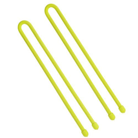 Nite Ize 12in Gear Ties, Neon Yellow (Pack of 2)