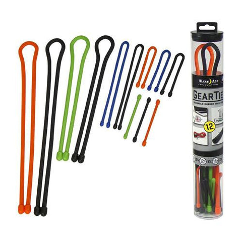Nite Ize Gear Tie Tube with Assortment of 12 Ties