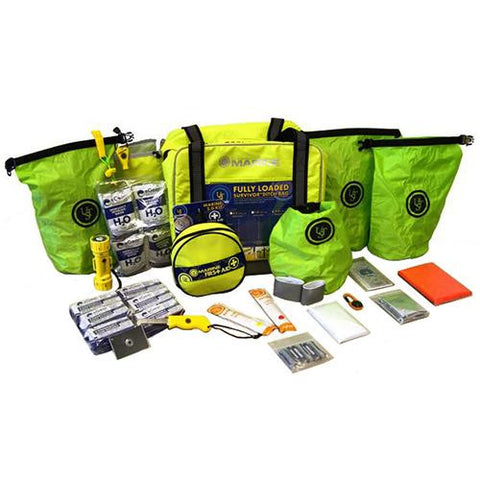 Ultimate Survival Technologies Loaded Ditch Bag - 4 Person, Lime