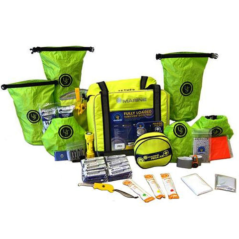 Ultimate Survival Technologies Loaded Ditch Bag - 6 Person, Lime