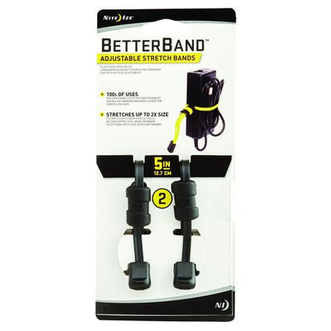 "Nite Ize Better Bands - 5"", Black, Per 2"
