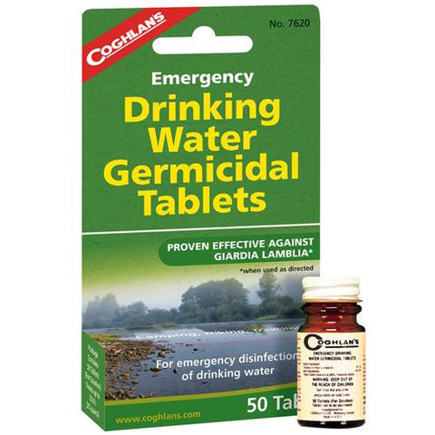 Emergency Germicidal Drinking Water Tablets - TentsEtc.com