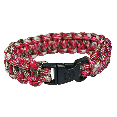 Limited Time Offer - Pink Camo Survival Bracelet