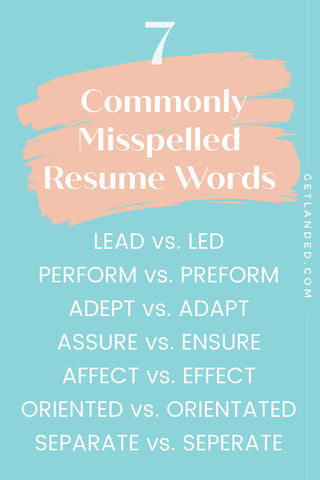Commonly Misspelled Resume Words