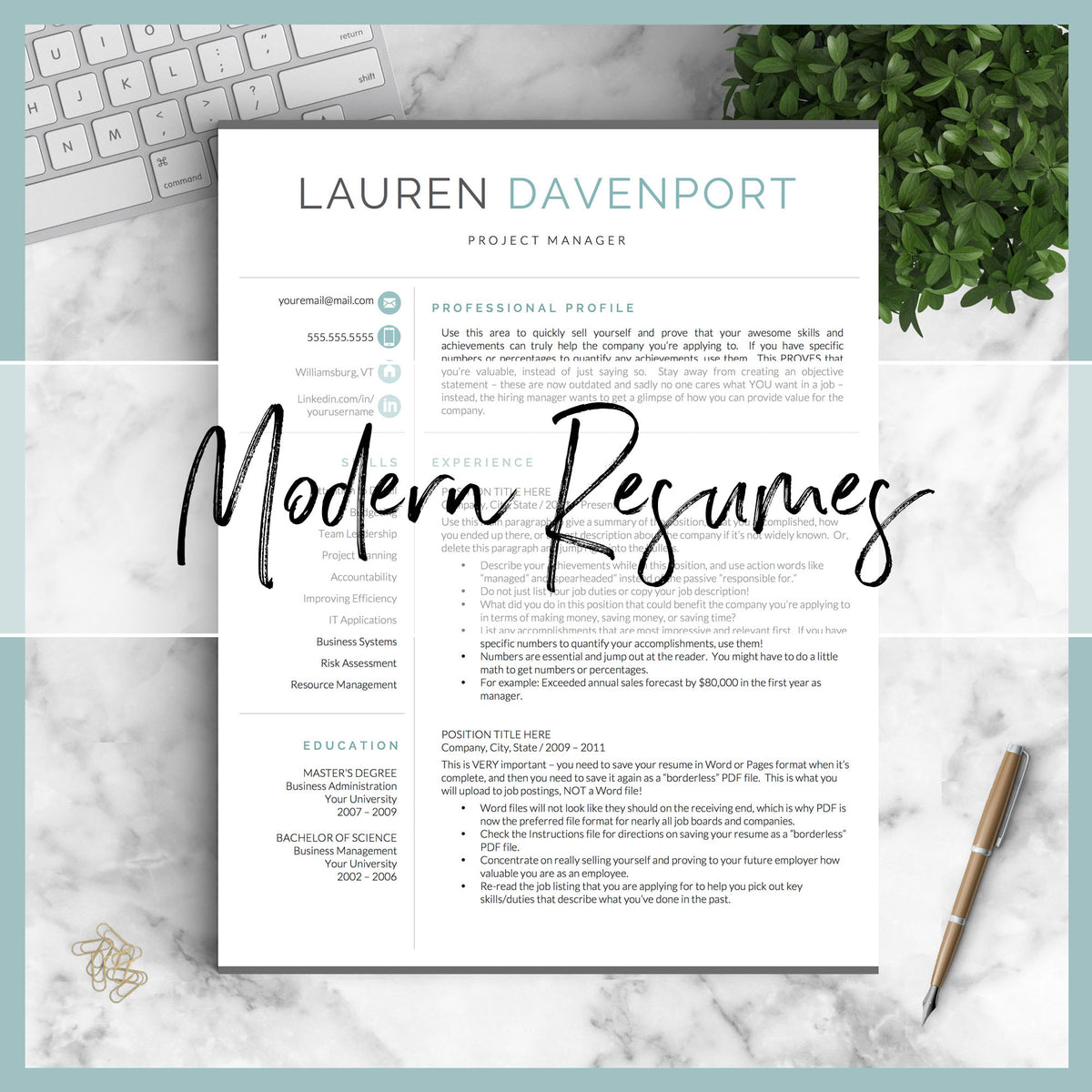 Get Landed Professional Resume Template Designs  Resume Writing Tips