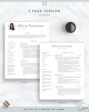 Resume Template with Photo for Word and Pages | The Olivia