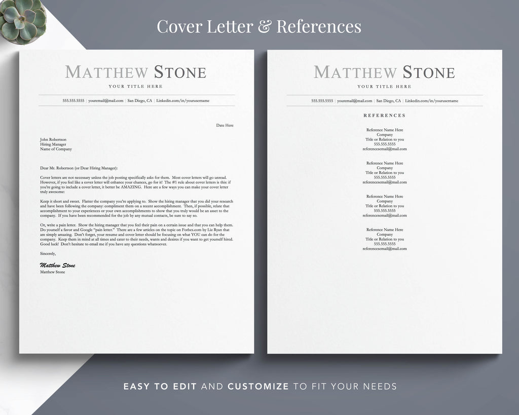 Simple resume format cover letter template