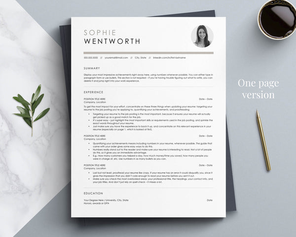 ATS Friendly Resume Template for Word, Pages & Open Office | The Stone