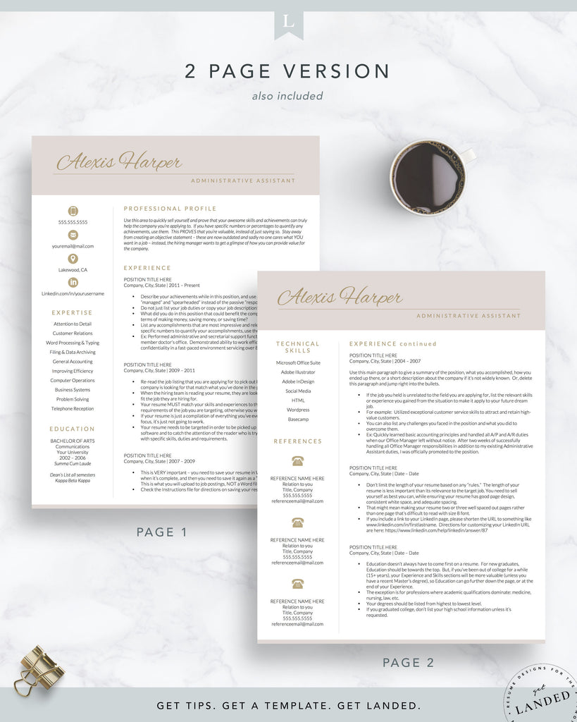 stay at home mom resume template