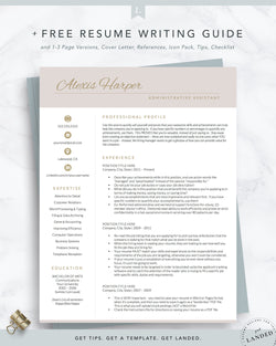 female resume template, feminine resume template for word