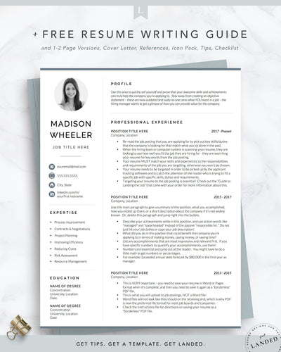 Resume Template with Photo, Picture CV, Photo CV Resume