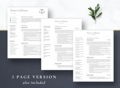 CV for Paralegal, Attorney CV Resume Template for Word