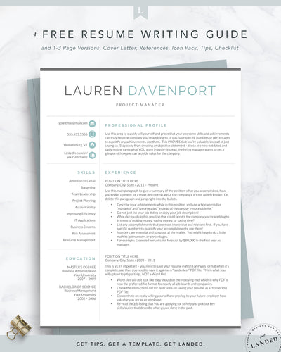 Executive Resume Template Corporate Resume Format For Word